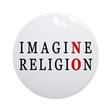Imagine No Religion Ornament (Round)