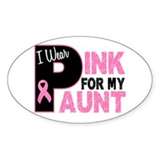 I Wear Pink For My Aunt 31 Oval Decal