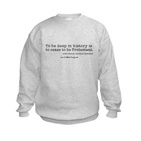 Deep in history Kids Sweatshirt