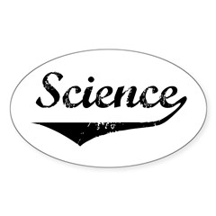Science Oval Decal