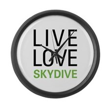 Live Love Skydive Large Wall Clock