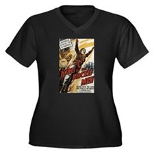 King of the Rocket Men Women's Plus Size V-Neck Da