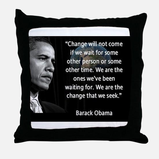 Cute President obama Throw Pillow