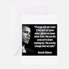 Cute Obama Greeting Card