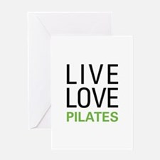 Live Love Pilates Greeting Card