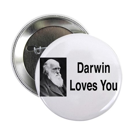 "Darwin Loves You 2.25"" Button"