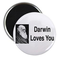Darwin Loves You Magnet
