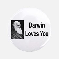 """Darwin Loves You 3.5"""" Button (100 pack)"""
