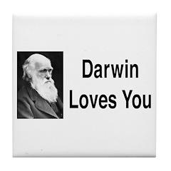 Darwin Loves You Tile Coaster