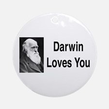Darwin Loves You Ornament (Round)