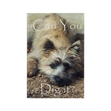 Cairn Terrier Dig It! Rectangle Magnet