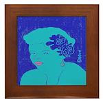 Blues Woman Framed Tile