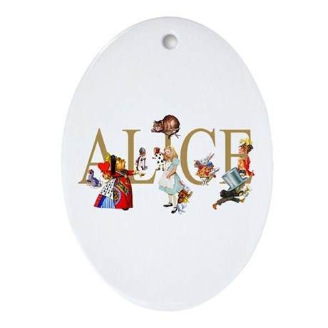 ALICE & FRIENDS IN WONDERLAND Ornament (Oval)
