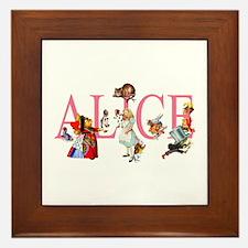 ALICE & FRIENDS IN WONDERLAND Framed Tile