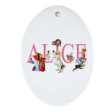 ALICE & FRIENDS IN WONDERLAND Ornament (Oval)