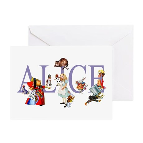 ALICE & FRIENDS IN WONDE Greeting Cards (Pk of 20)