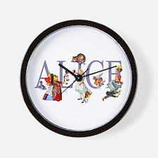 ALICE & FRIENDS IN WONDERLAND Wall Clock