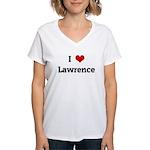 I Love Lawrence Women's V-Neck T-Shirt