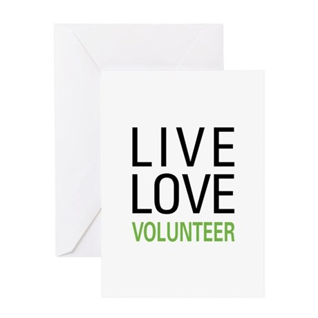 Live Love Volunteer Greeting Card