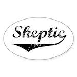 Skeptic Oval Sticker