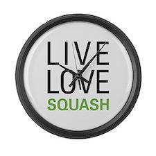 Live Love Squash Large Wall Clock