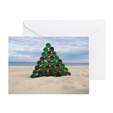 Christmas Bottle Tree Beach Greeting Card