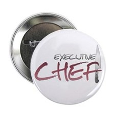 """Red Executive Chef 2.25"""" Button (10 pack)"""
