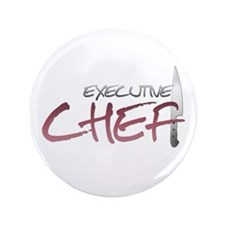 """Red Executive Chef 3.5"""" Button"""