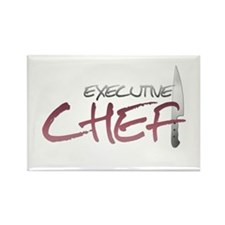 Red Executive Chef Rectangle Magnet (100 pack)