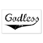 Godless Rectangle Sticker