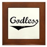 Godless Framed Tile