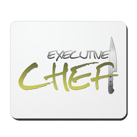 Yellow Executive Chef Mousepad