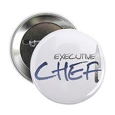 """Blue Executive Chef 2.25"""" Button"""