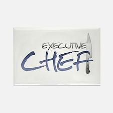 Blue Executive Chef Rectangle Magnet