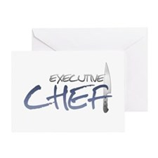 Blue Executive Chef Greeting Card