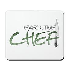 Green Executive Chef Mousepad