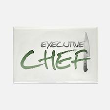 Green Executive Chef Rectangle Magnet