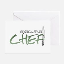 Green Executive Chef Greeting Card
