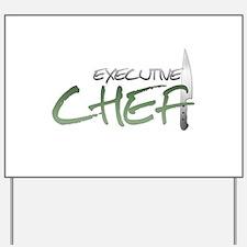 Green Executive Chef Yard Sign
