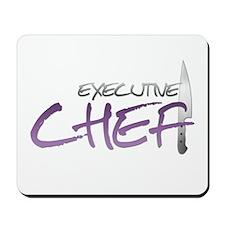 Purple Executive Chef Mousepad