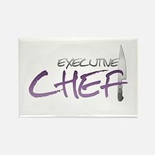 Purple Executive Chef Rectangle Magnet