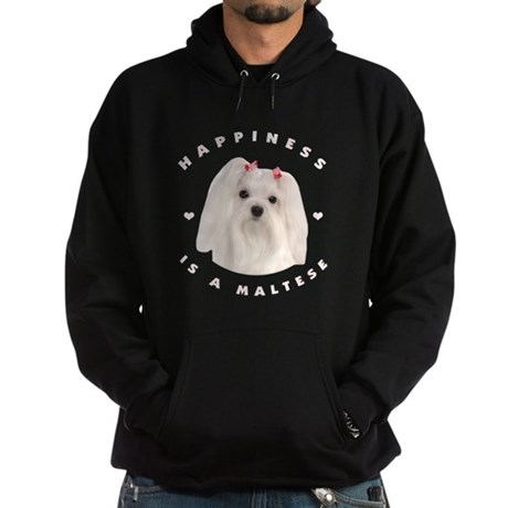 Happiness is a Maltese! Hoodie (dark)