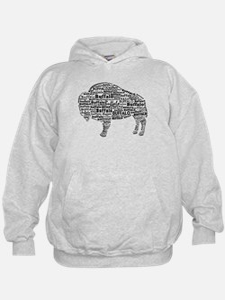 Buffalo Text Hoodie