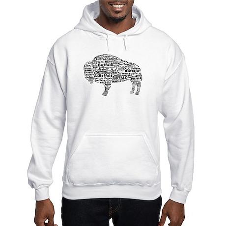 Buffalo Text Hooded Sweatshirt