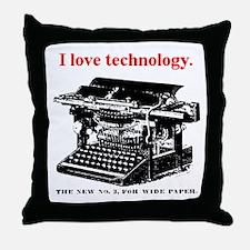 I love technology. Throw Pillow