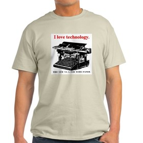 I love technology. Light T-Shirt