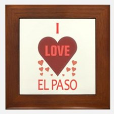 I Love El Paso Framed Tile