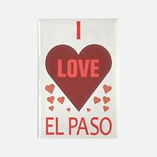 I Love El Paso Rectangle Magnet