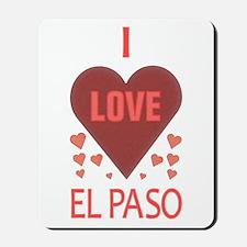 I Love El Paso Mousepad