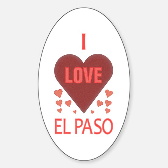 I Love El Paso Oval Decal
